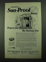 1923 Pittsburgh Plate Glass Patton's Sun-Proof Paint Ad - $14.99