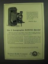 1923 No. 1 Autographic Kodak Special Camera Ad - $14.99