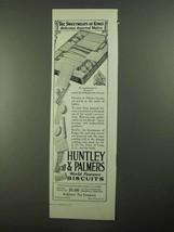 1923 Huntley & Palmers Biscuits Ad, Sweetmeats of Kings - $14.99