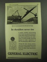 1923 General Electric Ad - Its Shoulders Never Tire - $14.99