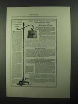 1923 Decorative Arts League Greek-Pompeian Lamp Ad - $14.99
