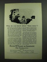 1923 Rand McNally Ad - Know About These States? - $14.99