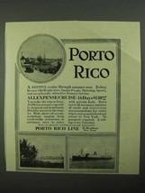1923 Porto Rico Line Cruise Ad - $14.99