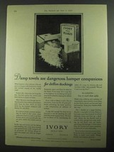 1925 Ivory Soap Ad - Damp Towels Are Dangerous - $14.99