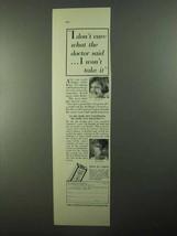 1931 Kellogg's Tasteless Castor Oil Ad - I Don't Care - $14.99
