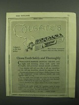 1922 Colgate's Toothpaste Ad - Cleans Teeth Safely - $14.99