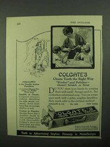 1922 Colgate's Toothpaste Ad - Cleans Teeth Right Way - $14.99