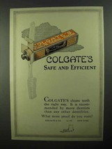 1922 Colgate's Toothpaste Ad - Safe and Efficient - $14.99