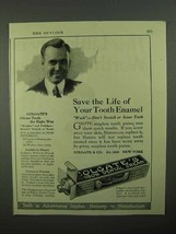1922 Colgate's Toothpaste Ad - Save Your Tooth Enamel - $14.99