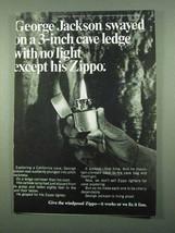 1969 Zippo Cigarette Lighter Ad - Cave Ledge - $14.99