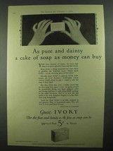 1926 Ivory Soap Ad - Pure and Dainty a Cake - $14.99