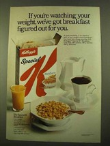 1970 Kellogg's Special K Cereal Ad - Watching Weight - $14.99