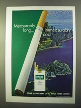 1970 Kool Cigarettes Ad - Measurably Long - $14.99