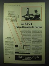 1931 Addressograph Company Ad - From Records to Forms - $14.99