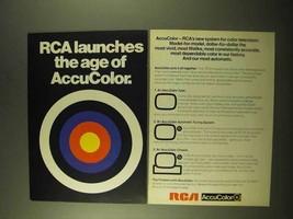1970 RCA AccuColor Color Television Ad - Launches Age - $14.99