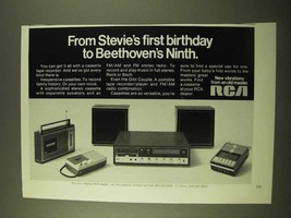 1970 RCA Cassette Tape Recorders Ad - Stevie's Birthday - $14.99