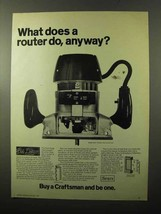 1970 Sears Router Model 2507 Ad - What Does Router Do? - $14.99