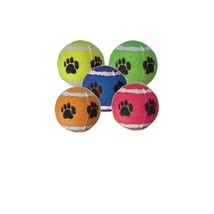 TENNIS BALLS for Dog Toy Bulk Paw Prints 4in Assorted Colors - $7.75