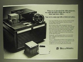 1971 Bell & Howell Slide Cube Projector Ad - New Way - $14.99