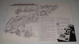 1969 IBM Desk Top Transcribing Unit Ad - American Business - $14.99