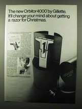 1971 Gillette Orbitor 4000 Razor Ad - Change Your Mind - $14.99