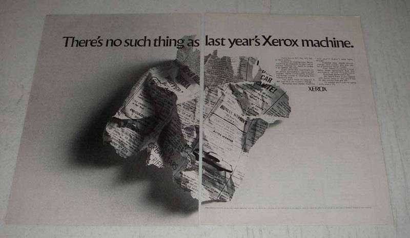 1969 Xerox Copiers Ad - No Such Thing As Last Year's