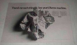 1969 Xerox Copiers Ad - No Such Thing As Last Year's - $14.99