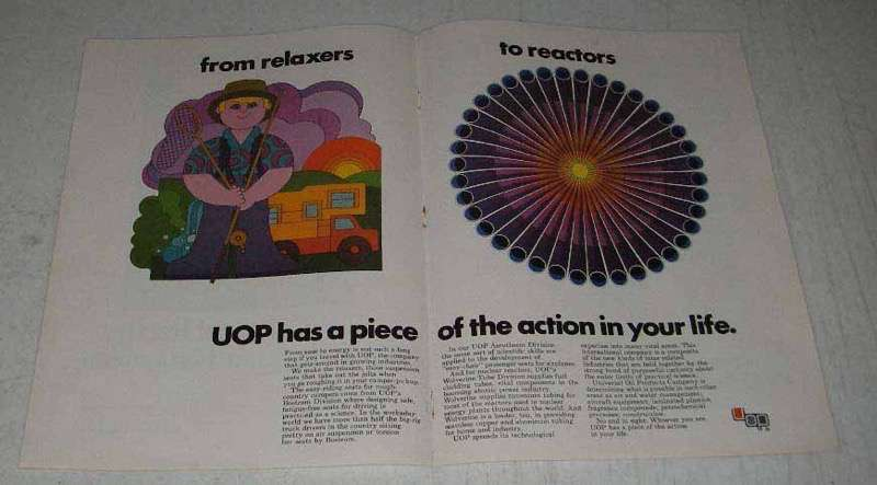 1969 UOP Universal Oil Products Ad - Relaxers Reactors