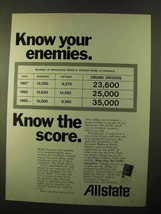 1970 Allstate Insurance Ad - Know Your Enemies - $14.99