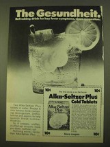 1970 Alka-Seltzer Plus Cold Tablets Ad - Gesundheit - $14.99
