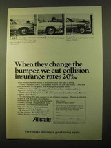 1970 Allstate Insurance Ad - Change The Bumper - $14.99