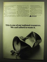 1970 American Can Company Ad - National Resources - $14.99
