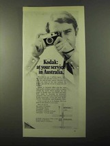 1971 Kodak Cameras Ad - At Your Service in Australia - $14.99