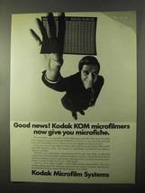 1971 Kodak Microfilm Systems Ad - KOM Microfilmers - $14.99