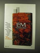 1971 L&M Cigarettes Ad - Relax Unwind - $14.99