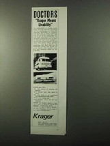 1971 Krager Motor Homes Ad - Doctors Means Livability - $14.99