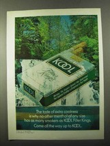 1971 Kool Cigarettes Ad - Taste of Extra Coolness - $14.99
