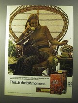 1971 L&M Cigarettes Ad - This is the L&M Moment - $14.99