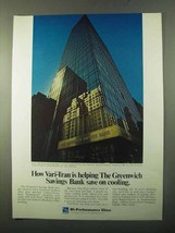 1971 Libbey-Owens-Ford Vari-Tran glass Ad - Greenwich Savings Bank - $14.99
