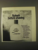 1971 Old Spice Pro-Electric Before-Shave Lotion Ad - $14.99