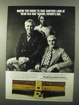 1971 Paris Fife & Drum Belts Ad - Look at Dear Old Dad - $14.99
