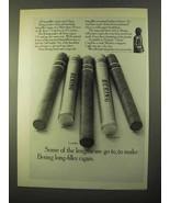 1970 Bering Cigar Ad - Imperial, Longfellow, Plaza - $14.99