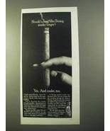 1970 Bering Cigars Ad - Long Filler Smoke Longer - $14.99