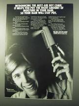 1971 Remington Mist-Air Hot Comb Ad - Moisture in Hair - $14.99