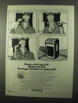 1971 Remington Lektro Blade Shaver Ad - Don't Get Dull - $14.99