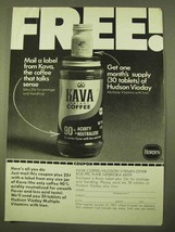1970 Borden Kava Instant Coffee Ad - Mail a Label - $14.99