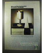 1975 Lambert & Butler Cigarettes Ad - Silver and Black - $14.99