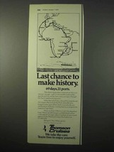 1975 Thomson Cruises Ad - Last Chance to Make History - $14.99