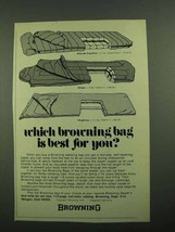 1976 Browning Sleeping Bag Ad - Eldorado Expedition - $14.99