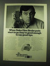 1976 AC Delco Disc Brake Pads Ad - Say Good-Bye - $14.99